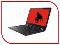 Ноутбук Lenovo ThinkPad L380 Yoga Black 20M7002HRT (Intel Core i3-8130U 2.2 GHz/4096Mb/256Gb SSD/Intel HD Graphics/Wi-Fi/Bluetooth/Cam/13.3/1920x1080/Touchscreen/Windows 10 Pro 64-bit)