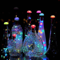 6pcs String Fairy Lamp Waterproof Copper Wire Wine Bottle Light Party Solar Power Home Outdoor Decoration Garden Led Colorful