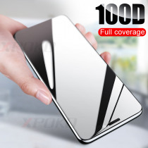 100D Curved Edge Protective Glass on the For iPhone 7 8 6 6S Plus Tempered Screen Protector For iPhone X XR XS Max Glass Film