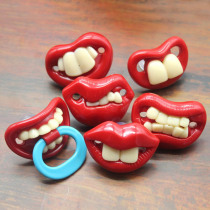 Baby Funny Teeth Shape Safe Silicone Pacifier Infant Toy Clip Baby Suppliers Orthodontic Teat Infant Soother Nipples