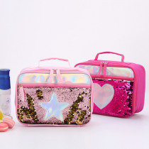 Sequin insulation package Children's portable lunch bag sequin meal package aluminum foil insulation package  Lunch  bag