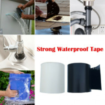 Strong Waterproof Glue Black/White Tape Patch Bond Super Strong Rubberized Waterproof Seal Repair Tape 120*10cm