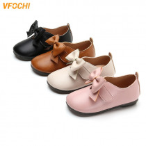 VFOCHI 2019 Girls Leather Shoes for Kids Low Heeled Girls Wedding Shoes Children Princesss Shoes Teenager Girls Dancing Shoes