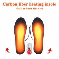 Electric Heated Shoes Pad Cuttable USB Charging Insoles Black Washable Foot Warmer Reusable Shoe Pad Winter Accessories