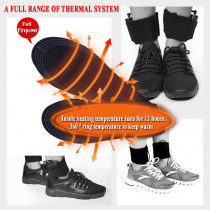 Dirt Proof Shoe Pad Electric Heated Comfort Reusable Cuttable Washable Insoles Men Women Black USB Foot Warmer Winter