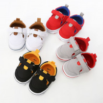 Baby Cute Boys Girls First Walkers Patchwork Anti-Slip Shoes Soft Sole Shoes Toddler Shoes Infant Girl Sneakers