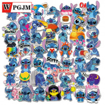 50Pcs Classics Sticker Stitch Cute Cartoon Stickers Scrapbooking Stickers for Luggage Laptop Notebook Car Motorcycle Toy Phone