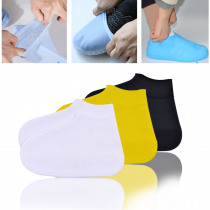 1 Pair Reusable Silicone Shoe Cover Waterproof Shoes Antiskid Rain Boots Non Slip Outdoor Silicone Insoles Camping Rainproof