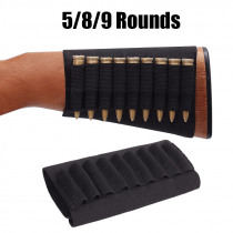 Tactical Ammo Pouch Cartridge Holder 5/8/9 Round Rifle Bullet Holster Butt Stock Shell Pouch Case Ammo Carrier Hunting Accessory