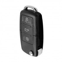 3-Button Car Key Shell PVC Black Key Fob Shell Buttons Flip Remote Car Key Case Cover Practical Gifts  37*22mm