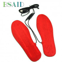 BSAID USB Electric Heated Insole Women Men Adjustable Length Warm Foot Heating Shoe Insoles For Shoes Woman 1 Pair Foot Pads New