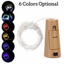 2M 20 LEDS Wine Bottle Lights With Cork Built In Battery LED Cork Shape Copper Wire Colorful Fairy Mini String Light
