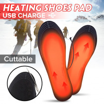 1Pair Cuttable Powered Electric Heated Shoe Insoles Foot Warmer New Winter USB Charger Heating Insole For for Outdoor Camping