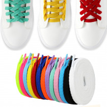 1 Pairs 150CM Flat Colorful Shoe Laces Shoelaces DIY For Football Boots Trainer Shoes Strings