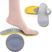 1 Pair Men Women 3D Orthopedic Insoles Breathable Orthotics Flat Foot Insert Arch Support Pads for Plantar Fasciitis
