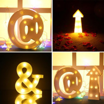 3D LED Night Light Special Number Push Button Wall Hanging Night Light Creative Wedding Decoration Gifts with Letter Light 2019