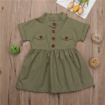 1-6T Toddler Kid Baby Girl Summer Dress Clothes Cotton Party Shirt Dress Shortsleeve  Casual Summer Clothing