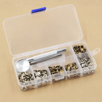 Metal Double Sided DIY Crafts Belts Fixing Tool Kit 120 Set Silver Bronze Rivets Rivets Tubular Leather Repairing