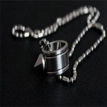 Self-defense Ring Shocker Weapons Product Survival Ring Tool Pocket Self Defense Ring Stainless Steel Spike + Chaining