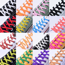 1pair 100cm Elastic Rubber Shoe lace Stretching Locking No Tie lazy Quick shoelaces Flat sneaker Bootlaces safe shoelace