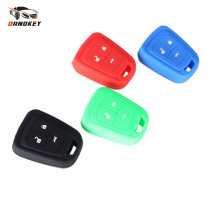 Dandkey Silicone Rubber Car Key Case Cover Shell for Chevrolet Chevy Spark Volt Aveo Remote 3 button Remote Protecter