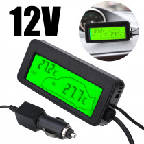 Water Temp Gauges DC 12V In/Outside Thermometer Car LCD Digital Display Temperature Gauge