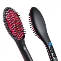 Best Sell Portable Size Handheld Hair Straight Electric Brush Professional Lcd Display Fast Hair Straightener Comb