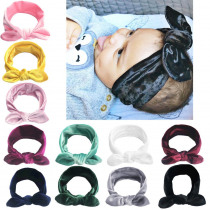 Brand New 11 Colors Toddler Baby Girls Velvet Ribbon Hair Bows Headbands Big Bow Hair Bands