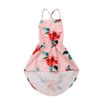 Brand New Kids Baby Girl Summer Dress Backless Sleeveless Floral Pageant Dress Sundress 1-6Y