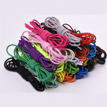 1 Pair Candy Color Round Stretch Shoelaces For Sneakers 105cm Women Men Outdoor Sports High Elasticity Shoe Laces Strings Pink