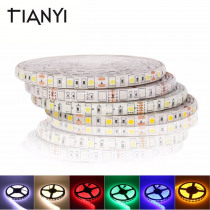 5050 DC 24V RGB LED Strip Waterproof 5M 300LED Luz LED Light Strips Flexible Neon Tape String 60LED/M Home Lighting Decoration