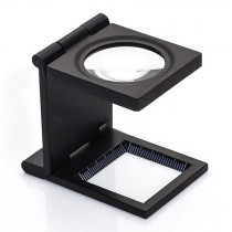 1 Piece 28MM 10X Folding Linen Tester Mini Pocket Metal Magnifiers Cloth Thread Counter Magnifier Magnifying Glass 9005D
