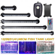 Matching Air Pump RGB Aquarium Fish Tank LED Light with Remote 12/26/31/41/46CM Fish Lamps Waterproof  EU Plug 110-240V to DC12V