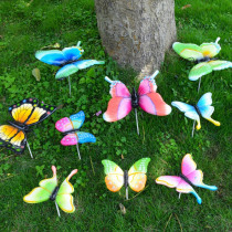 10PCS/Lot 7cm Artificial Butterfly Garden Decorations Simulation Butterfly Stakes Yard Plant Lawn Decor Fake Butterefly Random