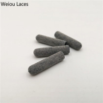 Weiou 4pcs/1Set 3M Reflective Plastic Tips 22mm*5mm Luxury Grey Aglets For Hoodies Laces Shoelaces Bootlaces DIY Sneaker Kits