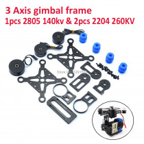 3 Axis Brushless Gimbal Frame &2204 260kv Motor & 2805 140kv Gimbal Brushless Motor for S500 Quadcotper