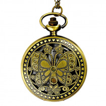 Korean version of the new pocket watch Classical large butterfly retro Huai court wind flip pocket watch
