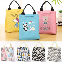 7 Styles Women Kids Men portable Lunch Bag Tote Insulated Canvas Box Bag Thermal Cooler Food Lunch Bags