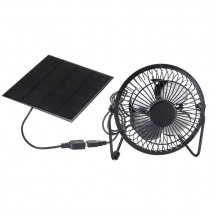Top Sale High Quality 4 Inch Cooling Ventilation Fan USB Solar Powered Panel Iron Fan For Home Office Outdoor Traveling Fishin