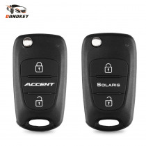 Dandkey Replacement Flip Folding Remote Key Shell 3 Buttons For Hyundai Accent Solaris 2018 Fob Keychain Car Key Case Cover HY20