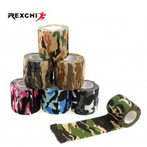Camping Hiking Self Adhesive Camouflage Elastic Tape Camo Wrap Outdoor Tools Military Tactical EDC Survival Bandage 5*450cm