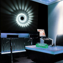 RGB Spiral Hole LED Wall Light Spiral Lamp  Remote Controller Colorful Wand lamp For Party Bar Lobby KTV Home Decoration