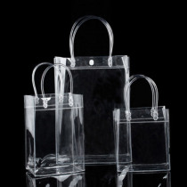 1 Piece New Clear Tote Bag Pvc Transparent Clear Shopping Bag Shoulder Handbag Stadium Approved Environmentally Storage Bags