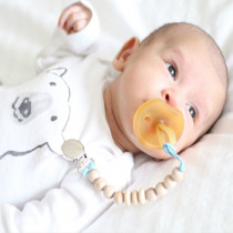 New-arrival Baby Wooden Pacifier Clip Chain Chupetas Soother Pacifier Clips Leash Strap Nipple Holder Anti-lost Pacifier Chain