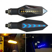 2pcs Motorcycle Turn Signal LED Lights Indicators Lamps Blue Amber Yellow high quality Red dragonfly gun shape design