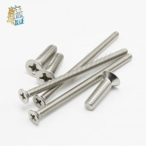 Gb819 Din965 M1 M1.2 M1.4 M1.6 M2 M2.5 M3 M4 M5 Stainless Steel 304 Phillips Flat Countersunk Head Micro Machine Screw