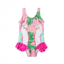 Pudcoco Kids Baby Girls Summer Cartoon Bikini Swimwear Swimsuit Bathing Suit Beachwear