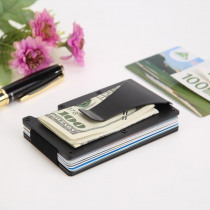Ultra-thin Simple Metal Business ID Credit Card Money Clips Men Women Wallet Money Clip Cash Clamp Holder Case Multipurpose Gift