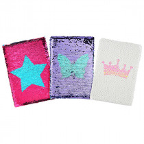 Glitter Reversible Sequin Notebook Journal Office Notepad School Diary Birthday Gifts for Women Girls