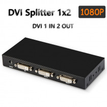 DVI Splitter 1x2/4 DVI-D 1 In 2/4 Out DVI Distributor Engineering PI Projector for TV Monitor Computer